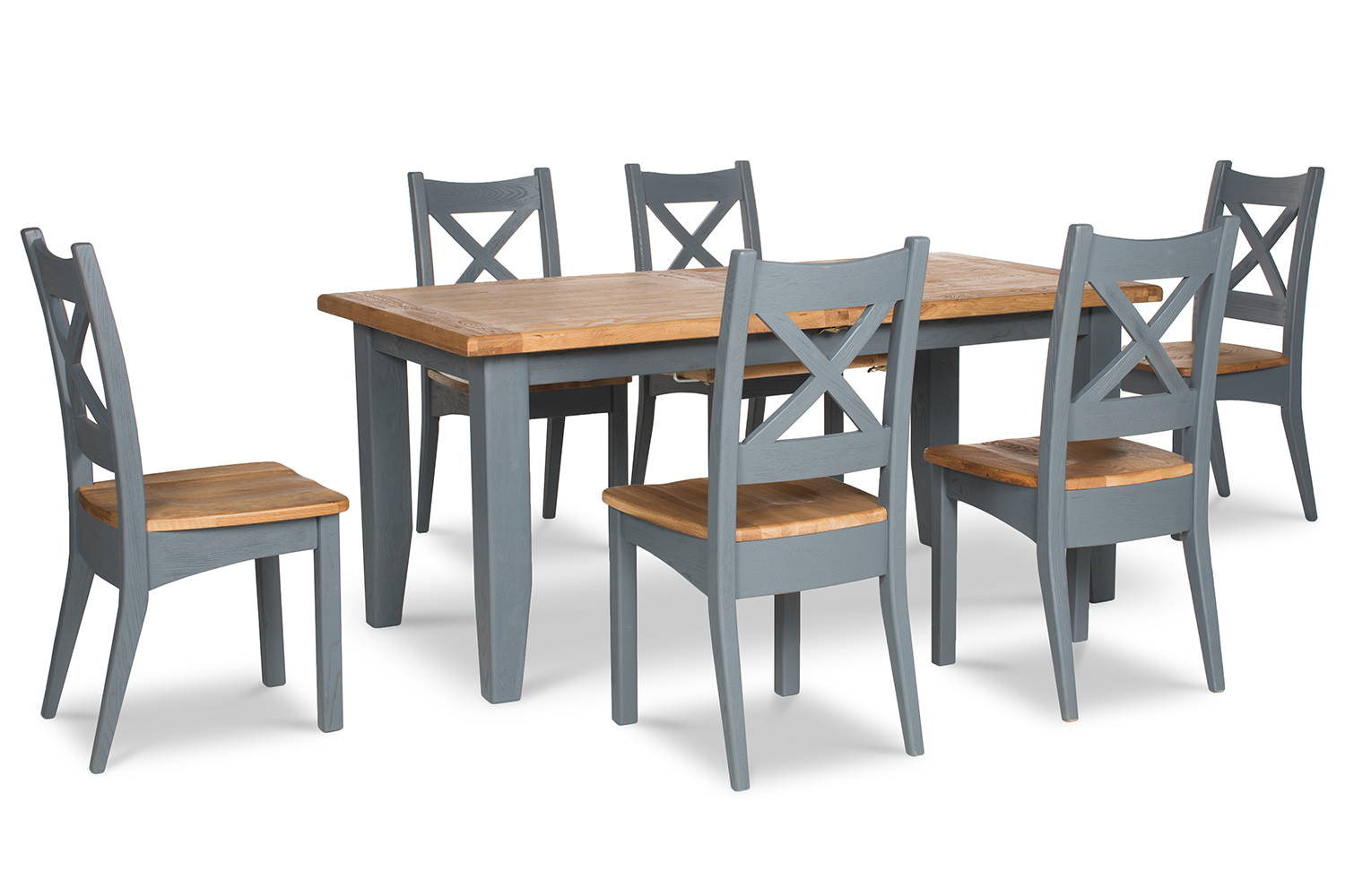 Tisbury Dining Set | 7 Piece | Night Grey | 180cm