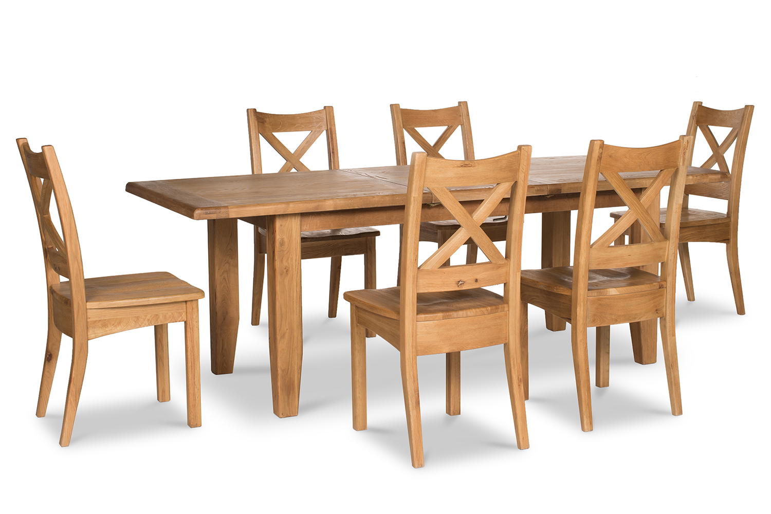 Tisbury Dining Set | 7 Piece | Oak | 180cm