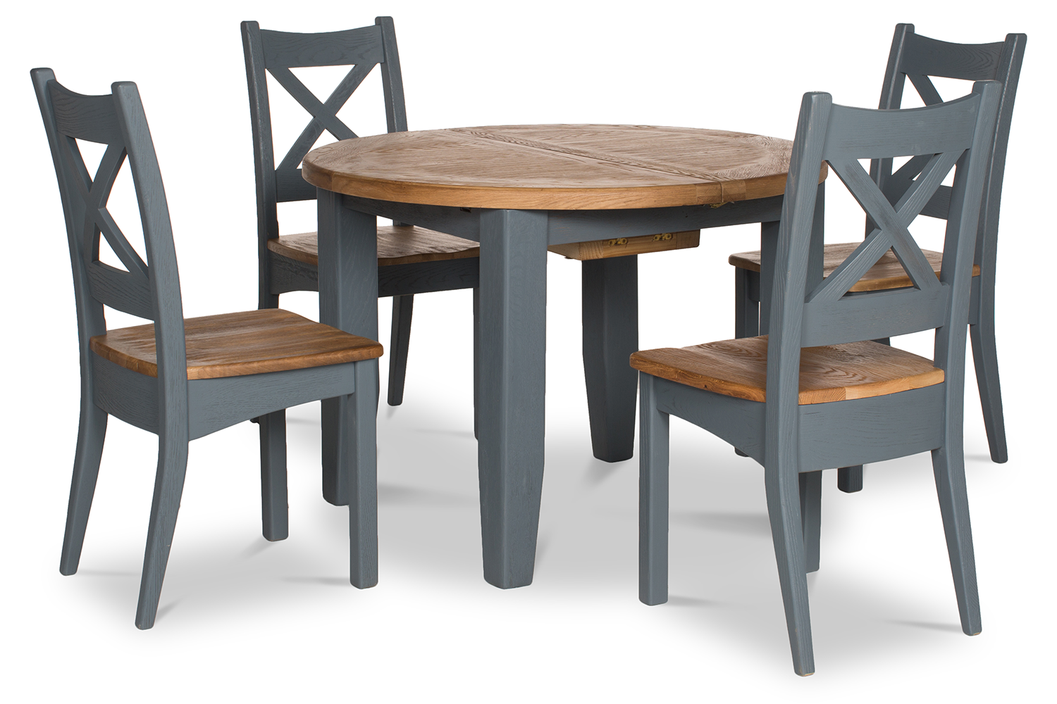 Tisbury Dining Set | Round | 5 Piece | Night Grey