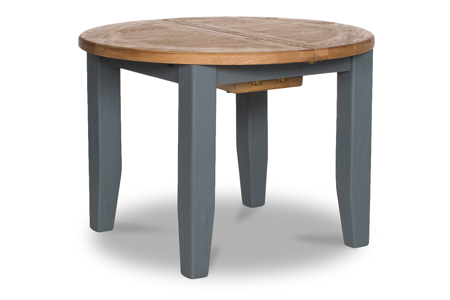 Tisbury Extended Round Dining Table  110cm | Painted grey