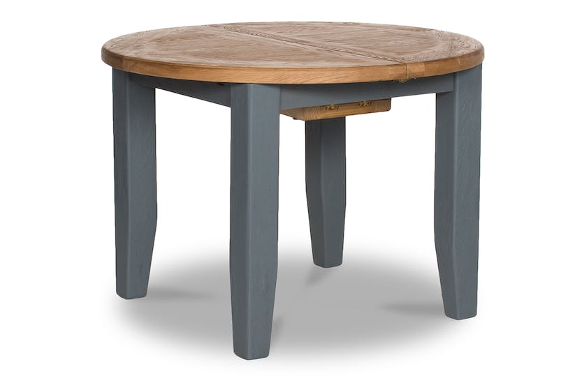 Tisbury Extended Dining Table | Round | Grey
