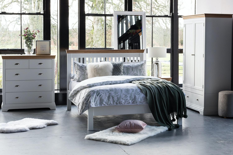 Ascott King Bed Frame   5ft   Angel White