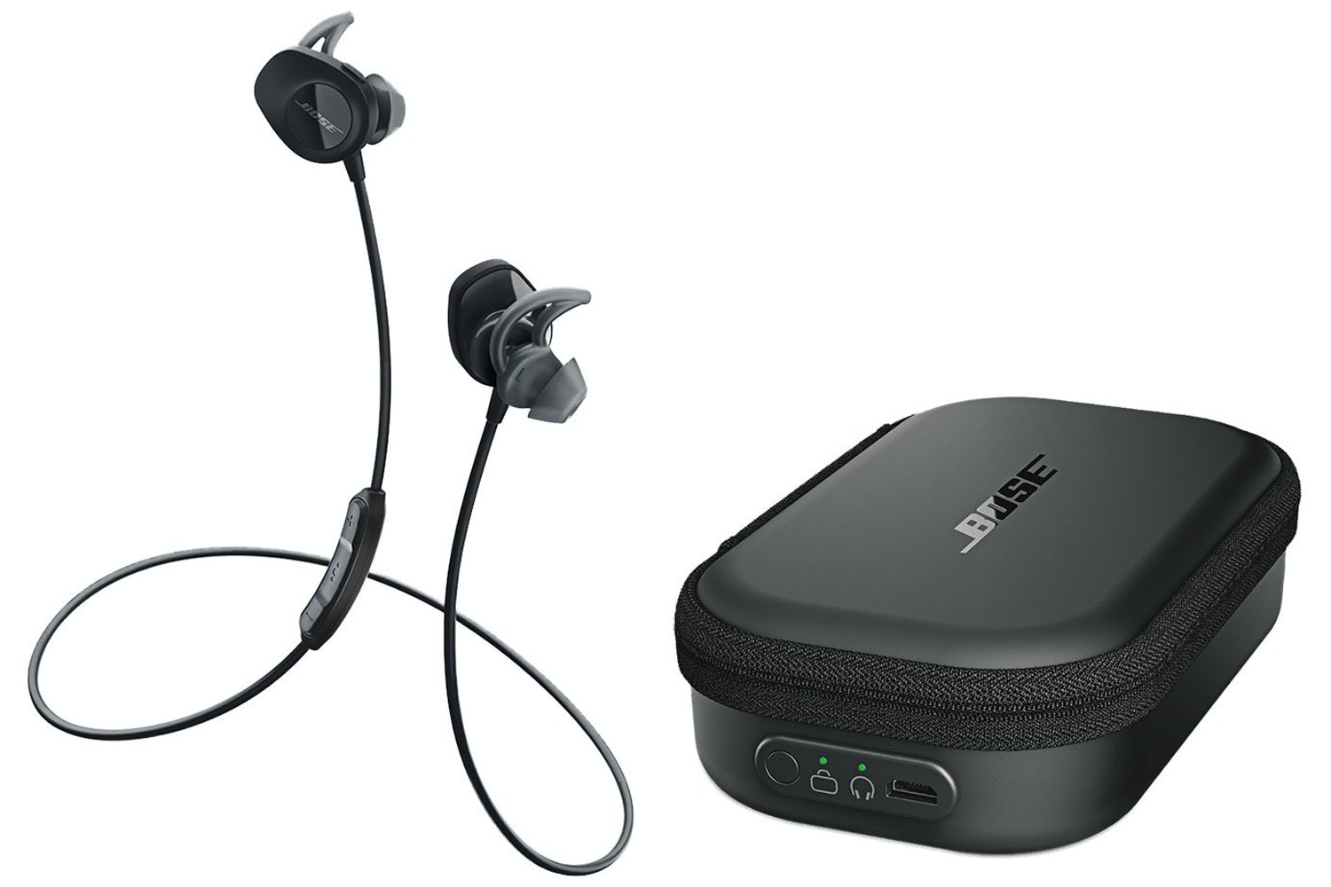 Bose Soundsport Wireless In-Ear Headphones and Charging Case | Black