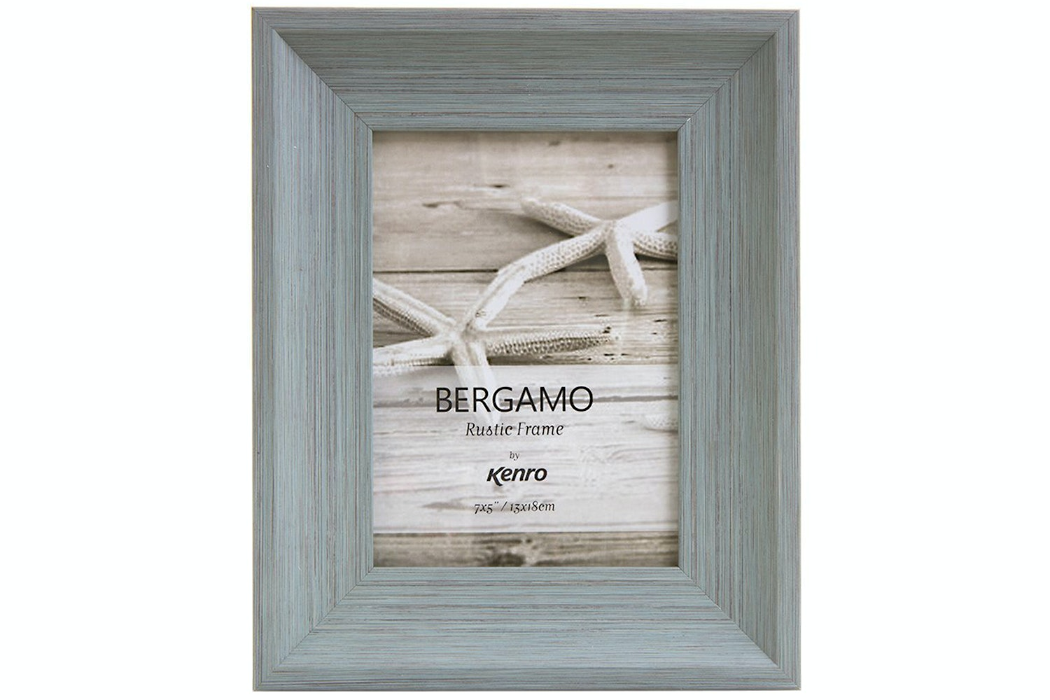 Kenro Bergamo Rustic Wood Photo Frame | 6x4""