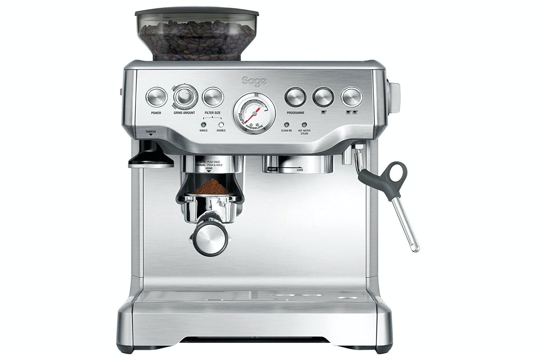 Sage Barista Express Coffee Machine   BES875UK   Stainless Steel