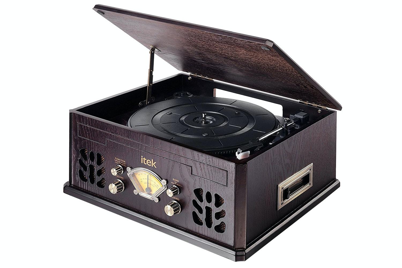 Itek IT142D Nostalgic Retro Music System   Dark Wood