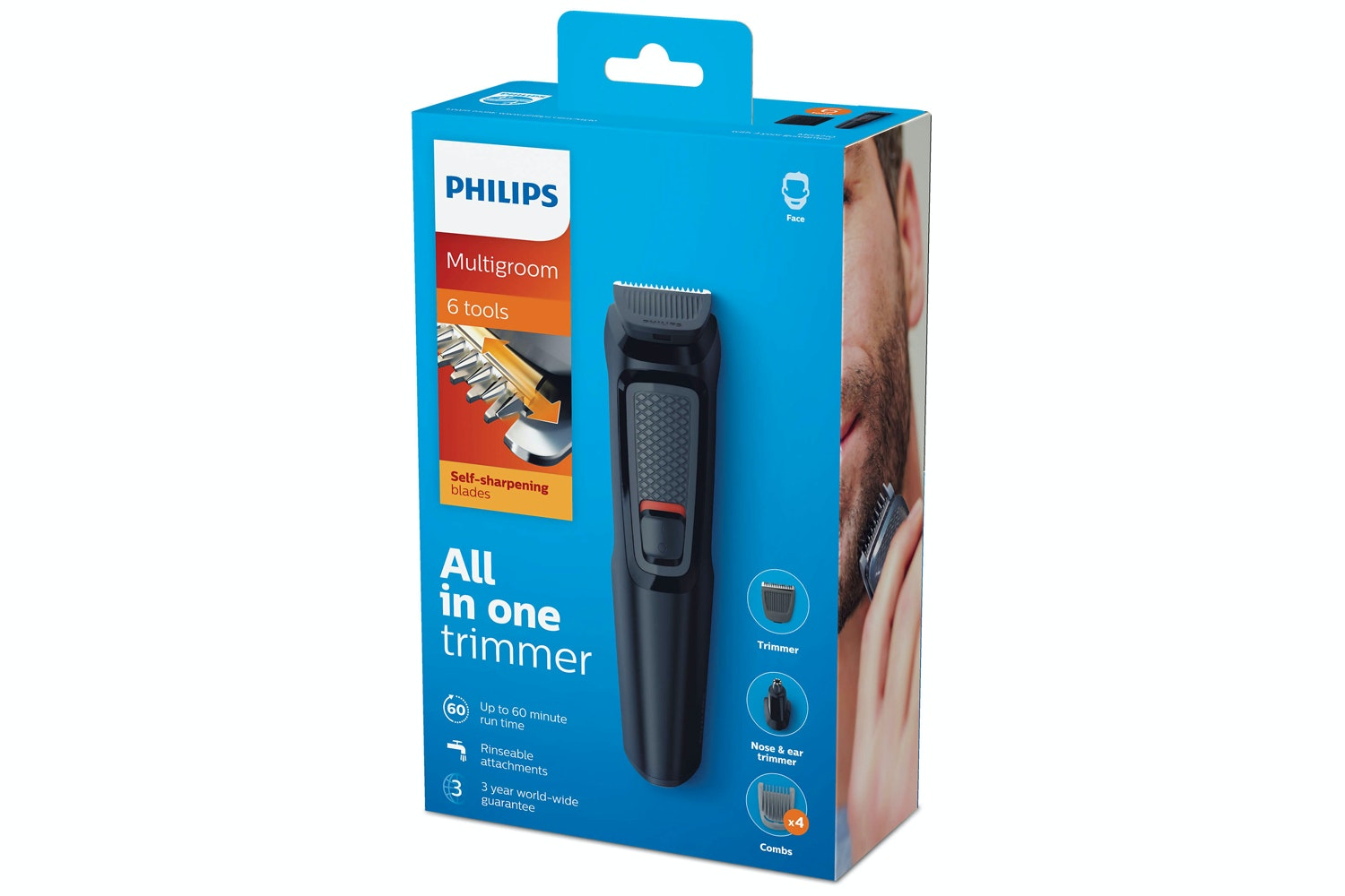 Philips Multigroom Series 3000 6-in-1 Face Trimmer Kit   MG3710/13