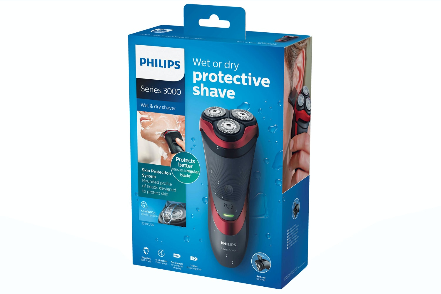 Philips Series 3000 Wet and Dry Men's Electric Shaver | S3580/06