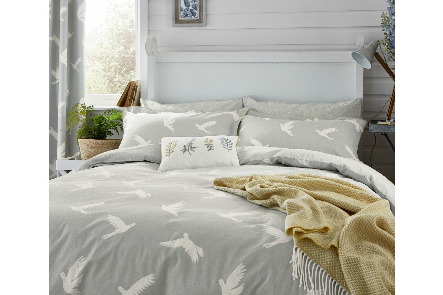 Paper Doves Duvet Cover | Mineral| Double