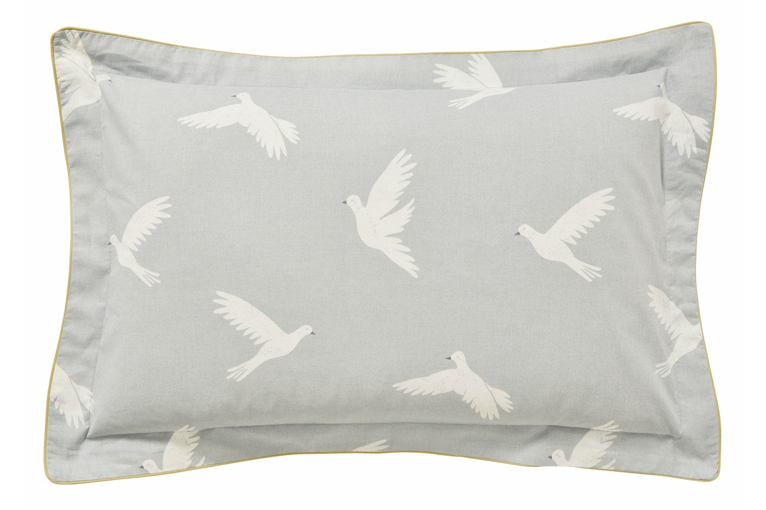 Paper Doves Pillowcase Oxford | Mineral