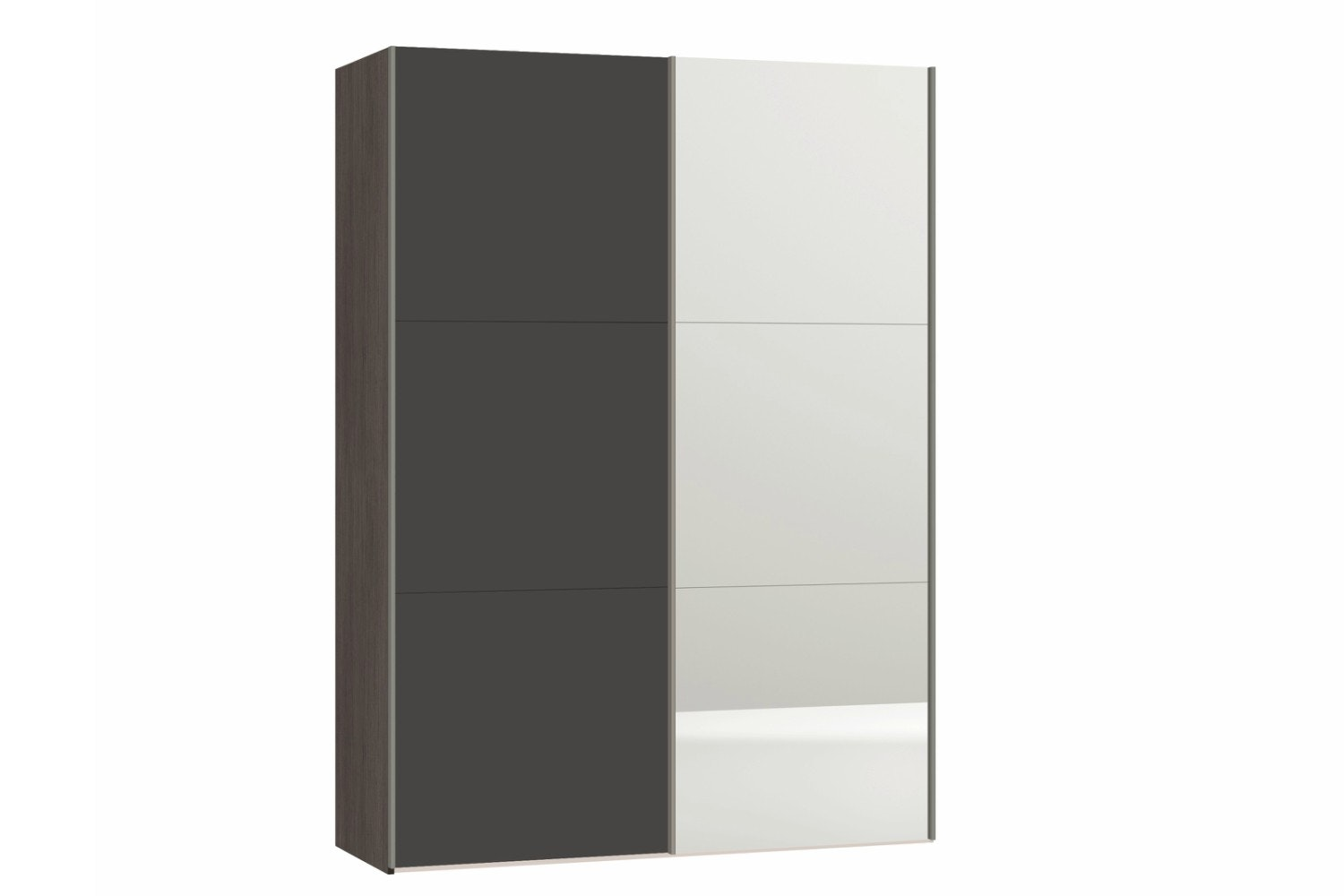 Zermatt Wardrobe 1.5M | Grey Matt & Mirror
