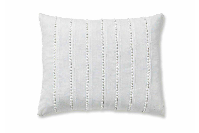 Pom Pom White Cushion ...