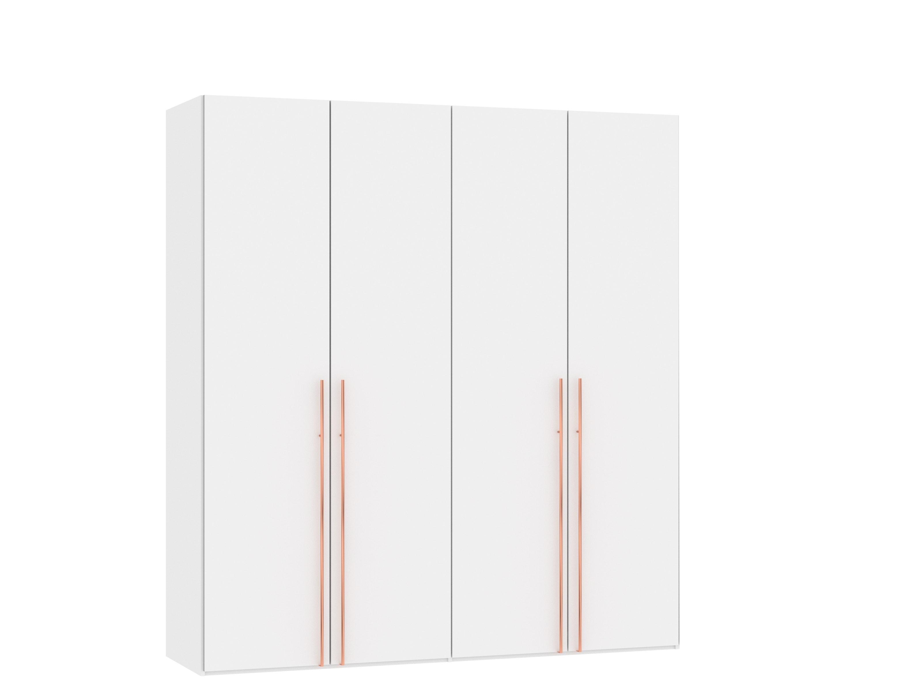 Sydney Wardrobe 4 Folding Doors | Premium White