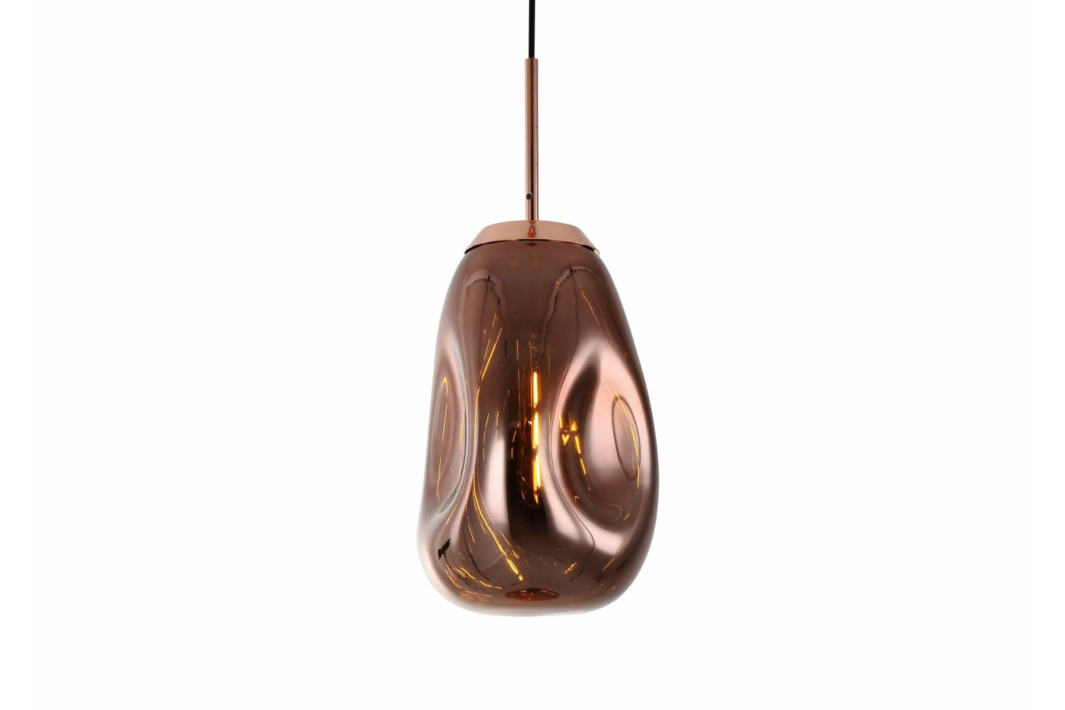 Pendant Lamp Blown Rose Gold | Large