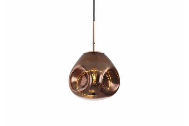 Pendant Lamp Blown Rose Gold | Small