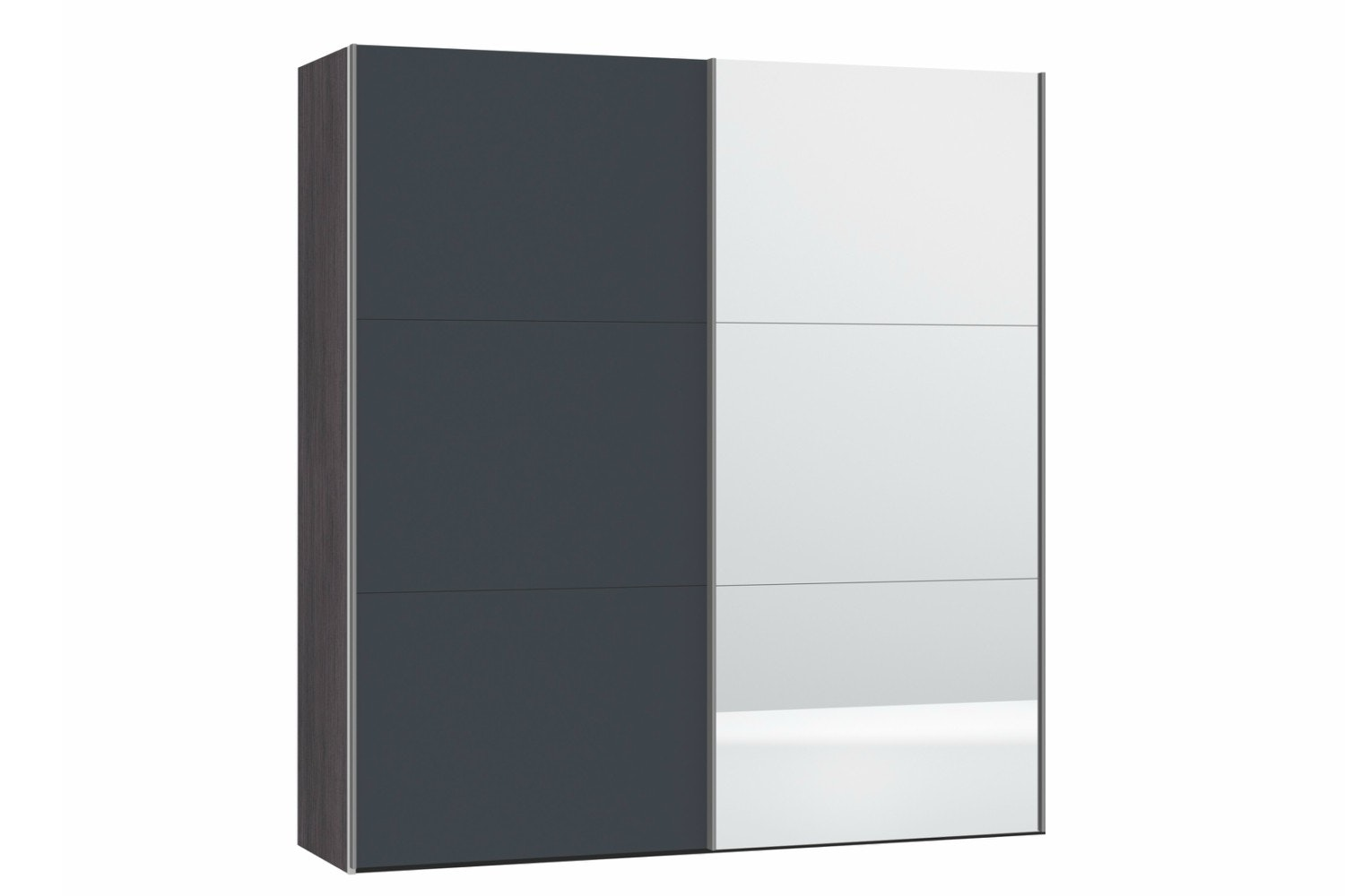 Zermatt Wardrobe | Grey Matt & Mirror | 2m