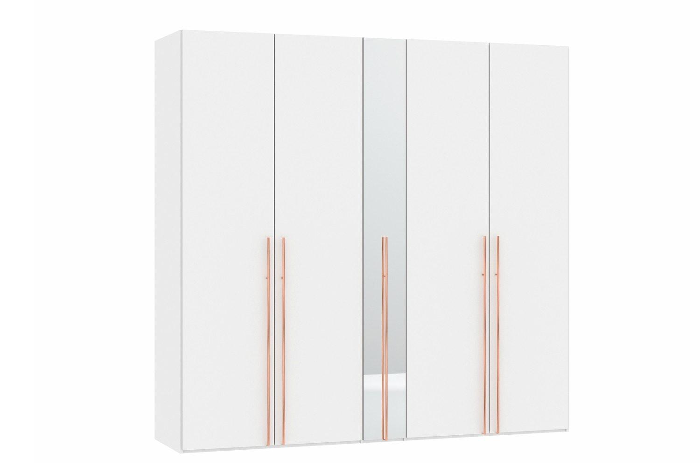 Sydney Wardrobe 5 Folding Doors   Elm & Mirror