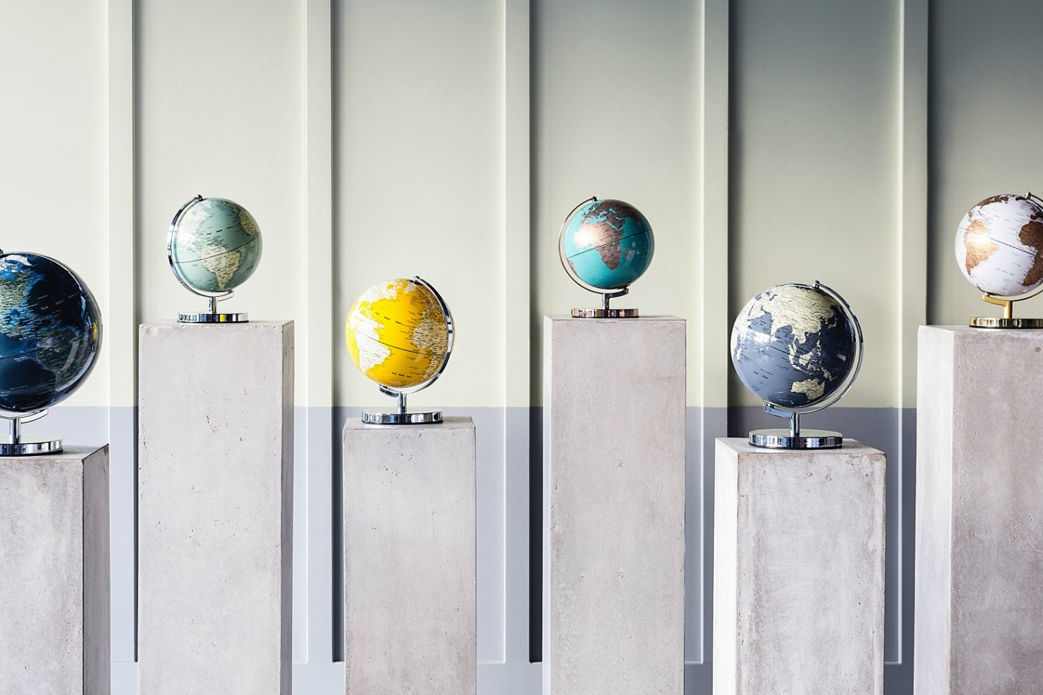 Concrete Grey Globe Light