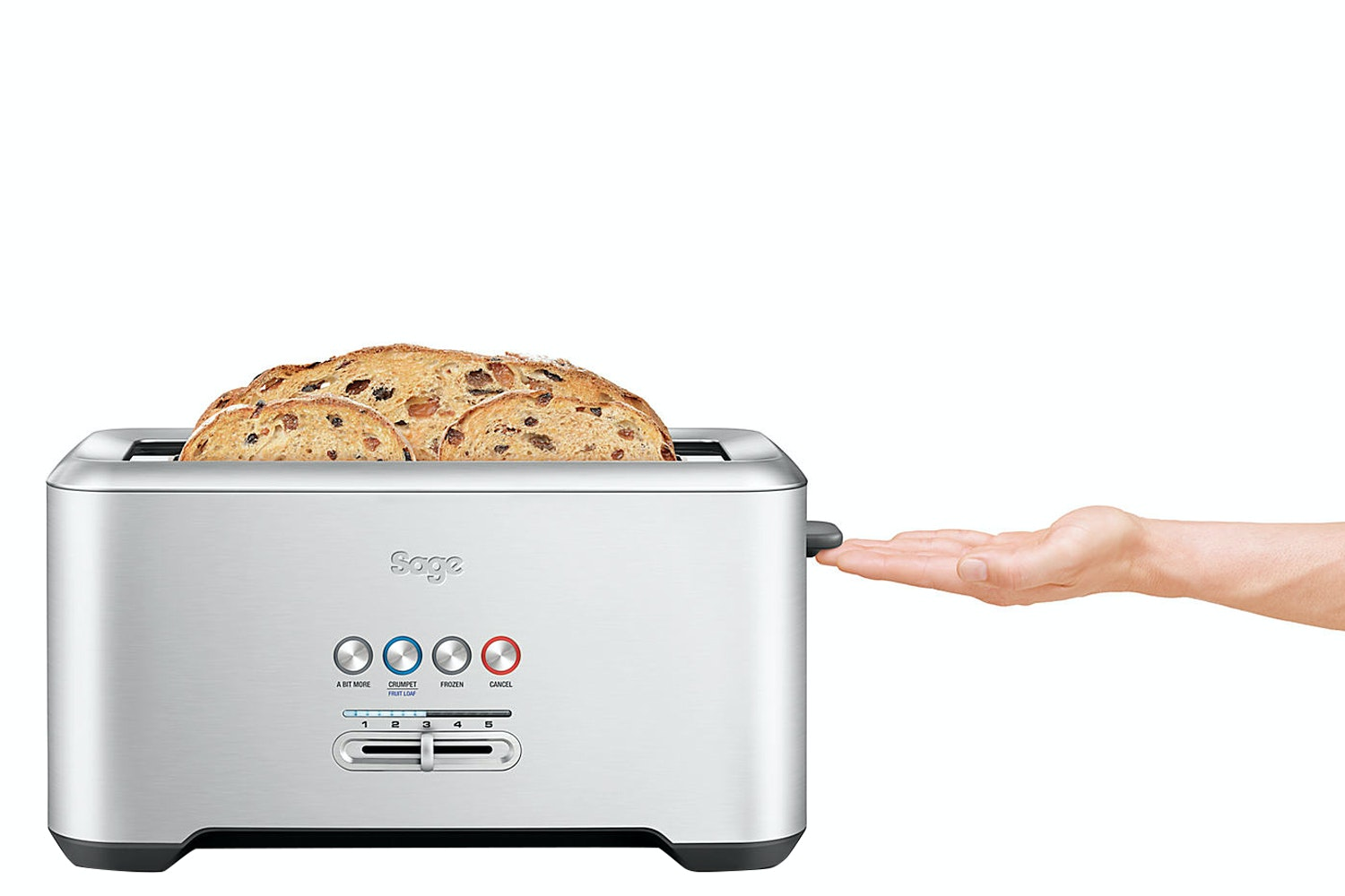 Sage 4 Slice Bit More Toaster | Stainless Steel