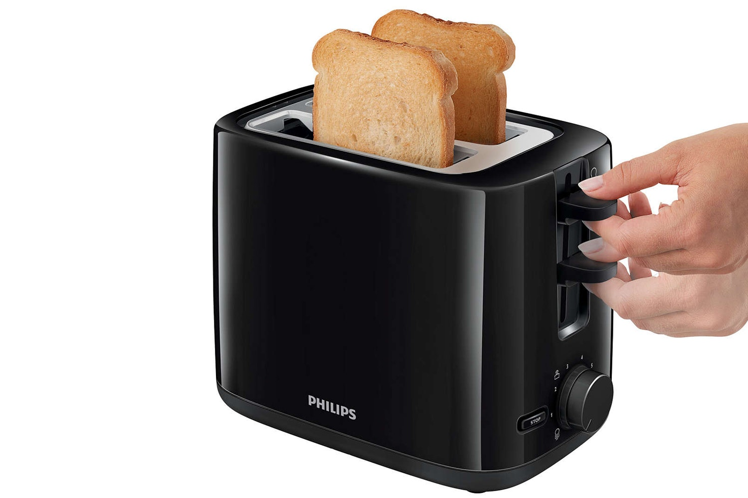 Philips Daily Collection 2 Slice Toaster | HD2595/91 | Black