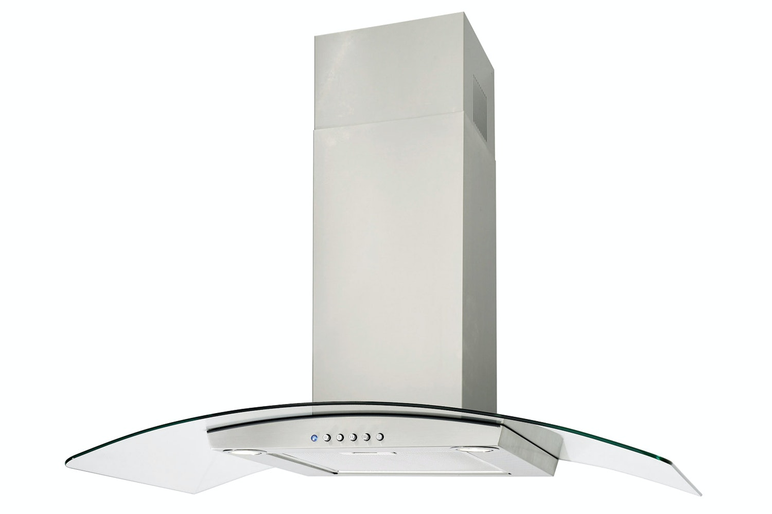 Luxair 60cm Valore Curved Glass Cooker Hood | LA60VALSS