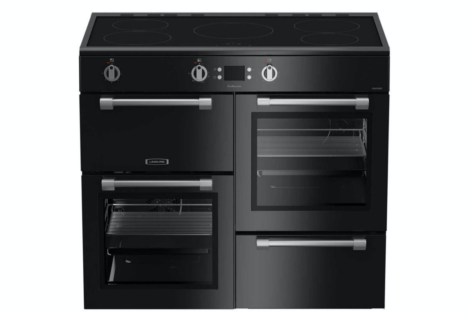 Leisure 100 CM Cookmaster Range Cooker | Black