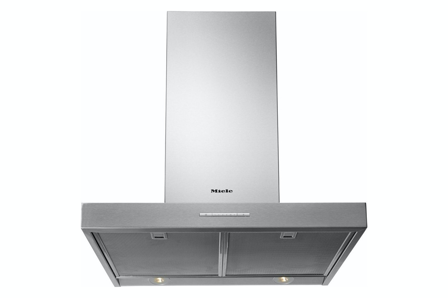 Miele PUR 68 W  Wall mounted cooker hood   with energy-efficient LED lighting and light-touch switches for easy use