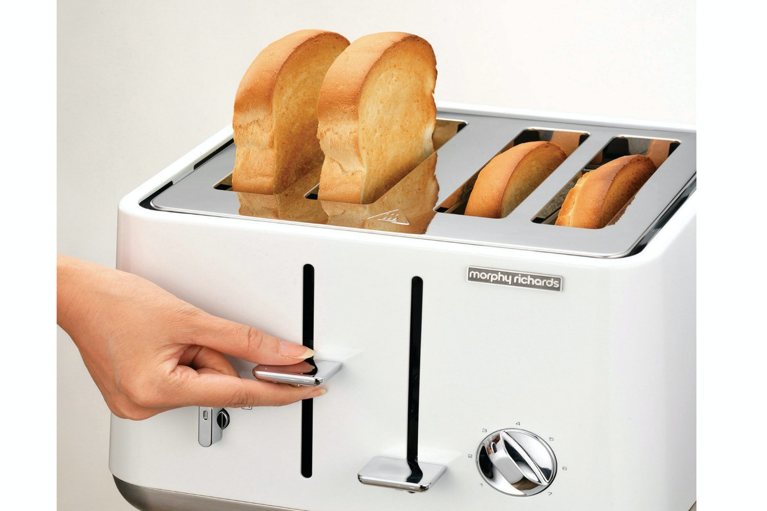 Morphy Richards Accents Trim 4 Slice Toaster | White