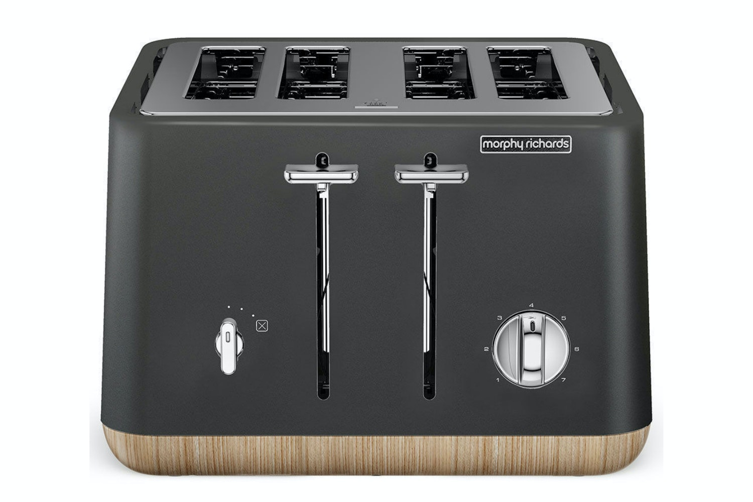 Morphy Richards Aspect Trim 4 Slice Toaster | Black