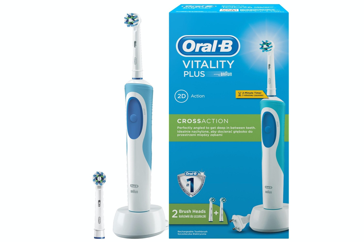 Oral-B Vitality Plus CrossAction Electric Toothbrush | OB4210201123859
