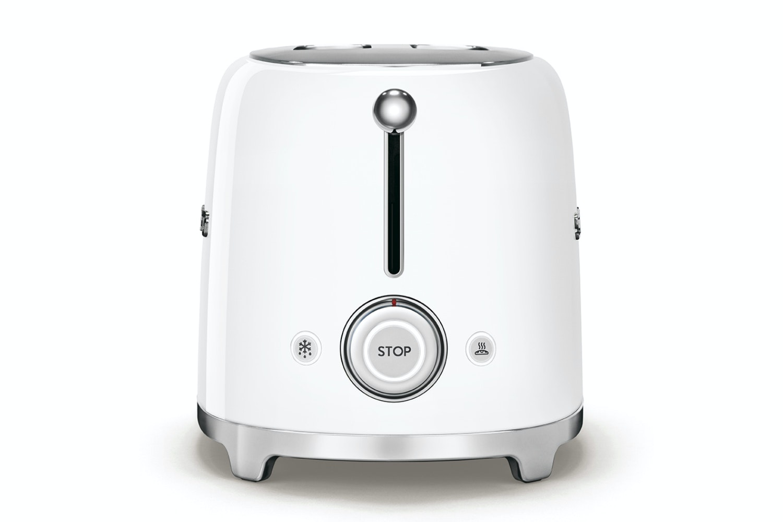 Smeg 50's Retro Style 2 Slice Toaster | TSF01WHUK | White