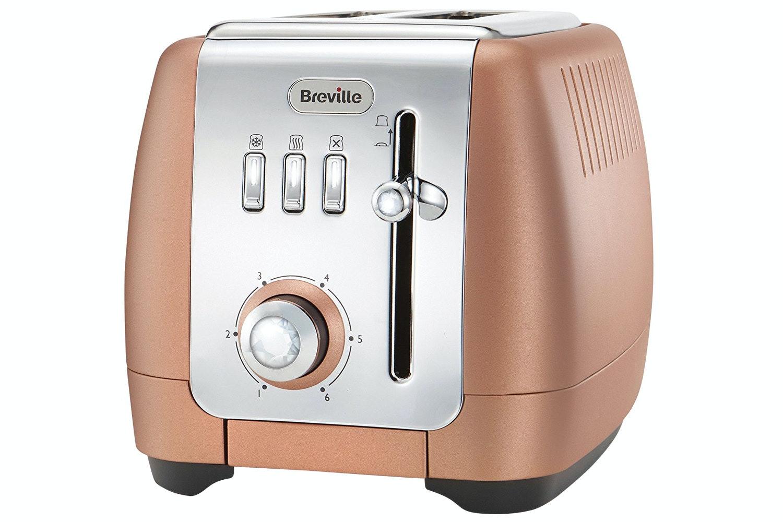 Breville Strata Luminere 2 Slice Toaster | VTT845 | Rose Gold