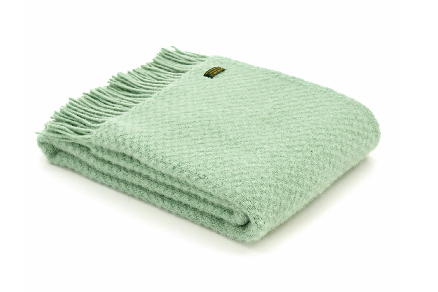 Tweedmill Wafer Laurel Throw 150 X 183cm | Green