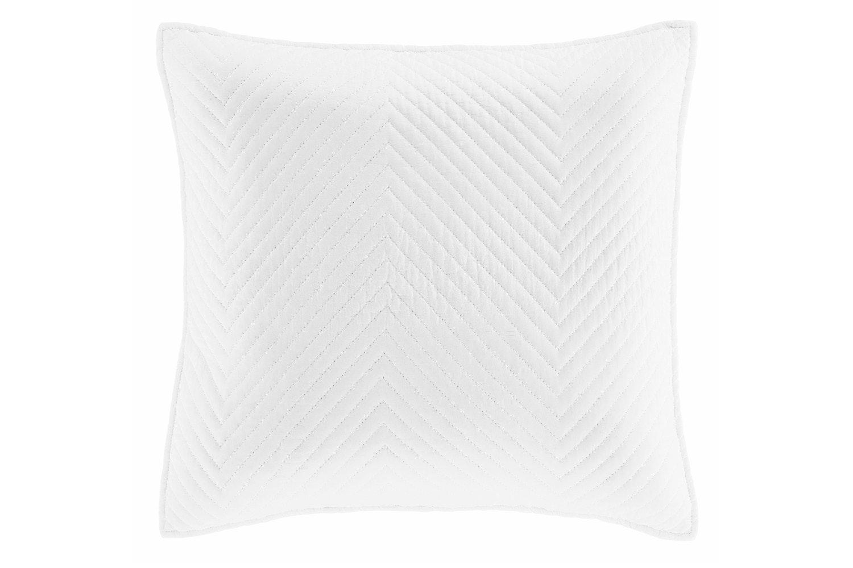 Stonewash Diagonal Cushion | White