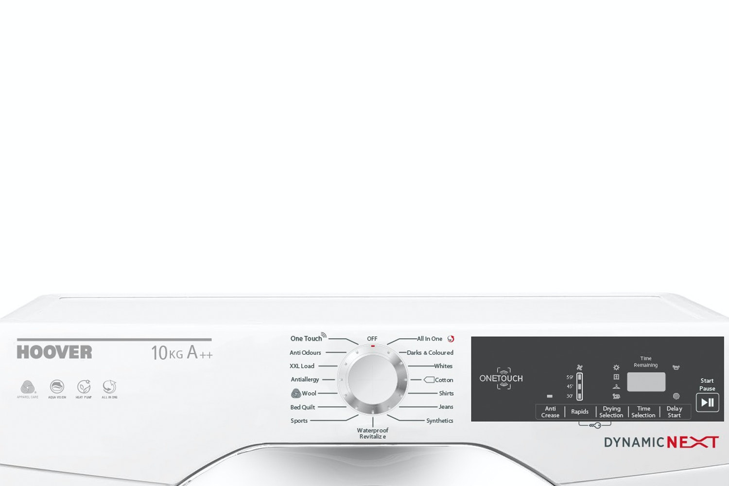 Hoover Dynamic Next 10kg Heat Pump Tumble Dryer | DXH10A2TCE-80