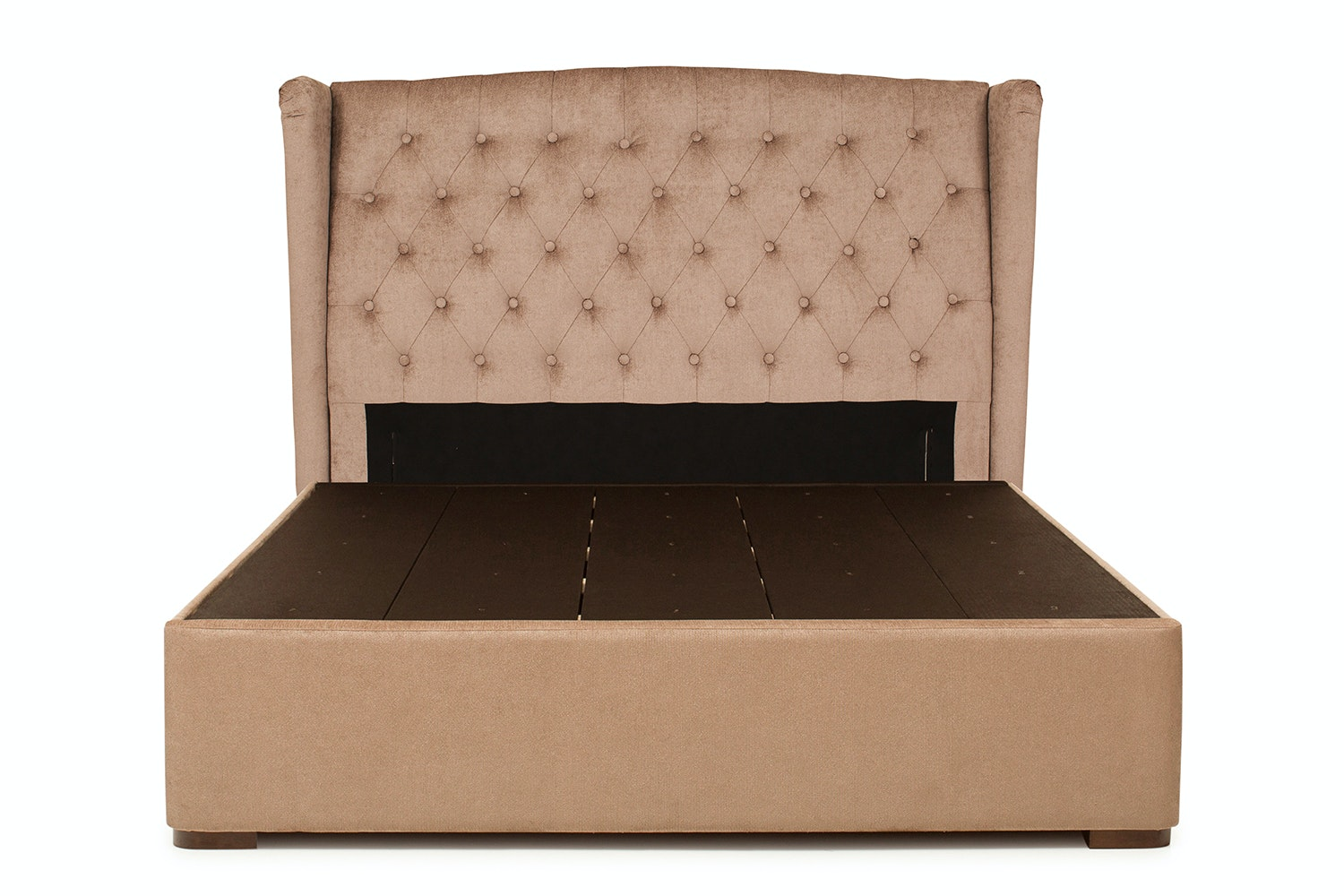Duval Bed with Winged Headboard | 5Ft | Mink