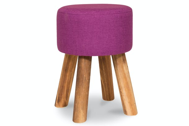 Tidy Footstool | Round | Purple