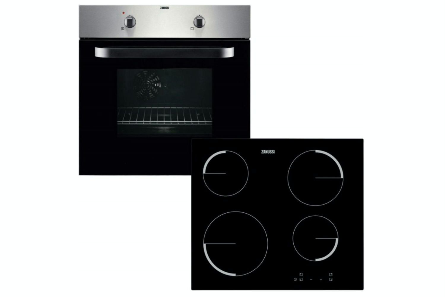 Zanussi Built-in Fan Oven & Ceramic Hob Pack | ZVPF4130X