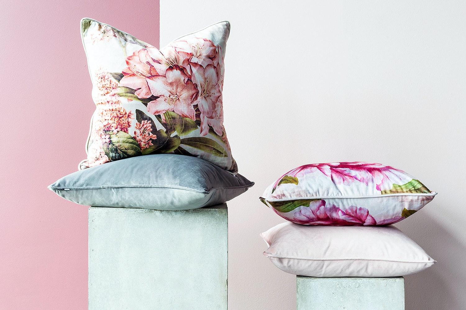 Scatterbox Hudson Velour Cushion | Blush