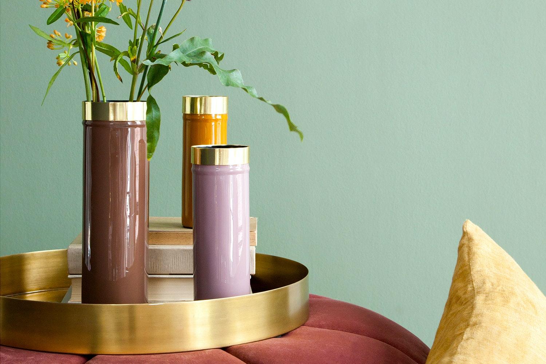 Enamelled Ingrid Set of 3 Vases