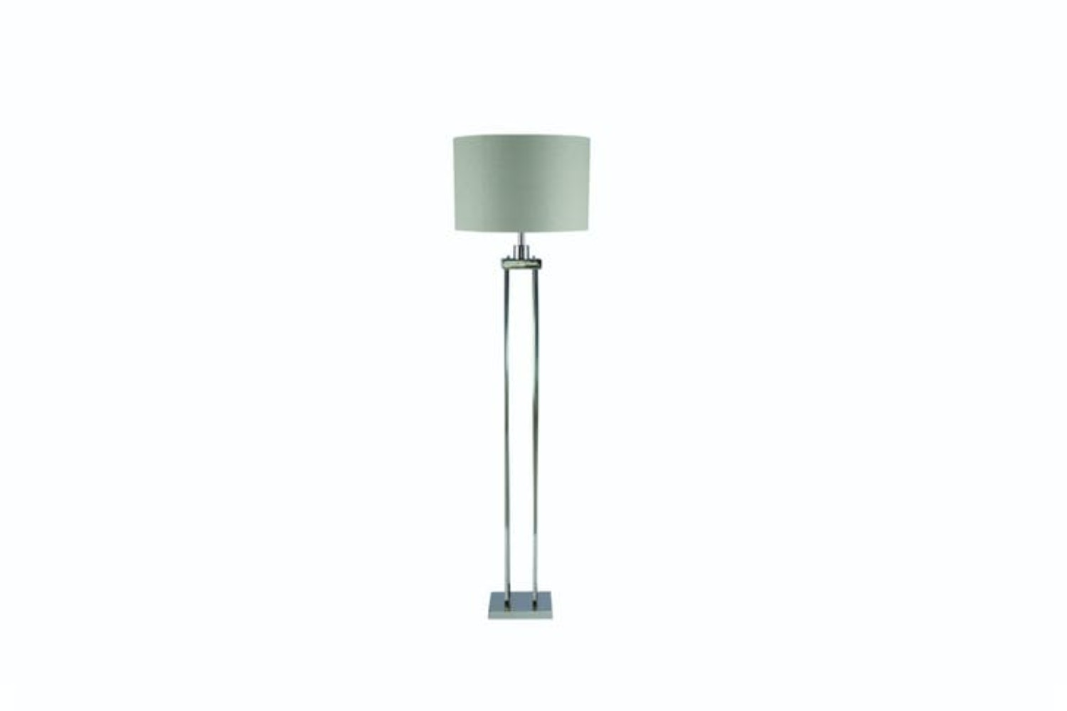 Nickel 4 Post Floor Lamp | Grey