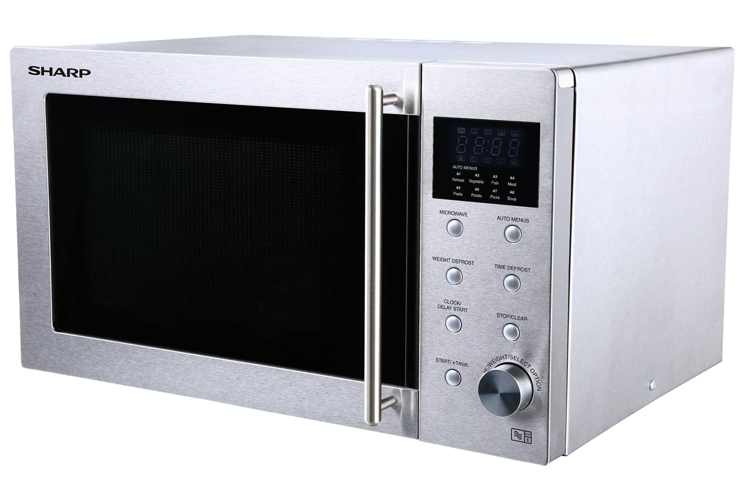 Sharp 23L 800W Solo Microwave | Stainless Steel