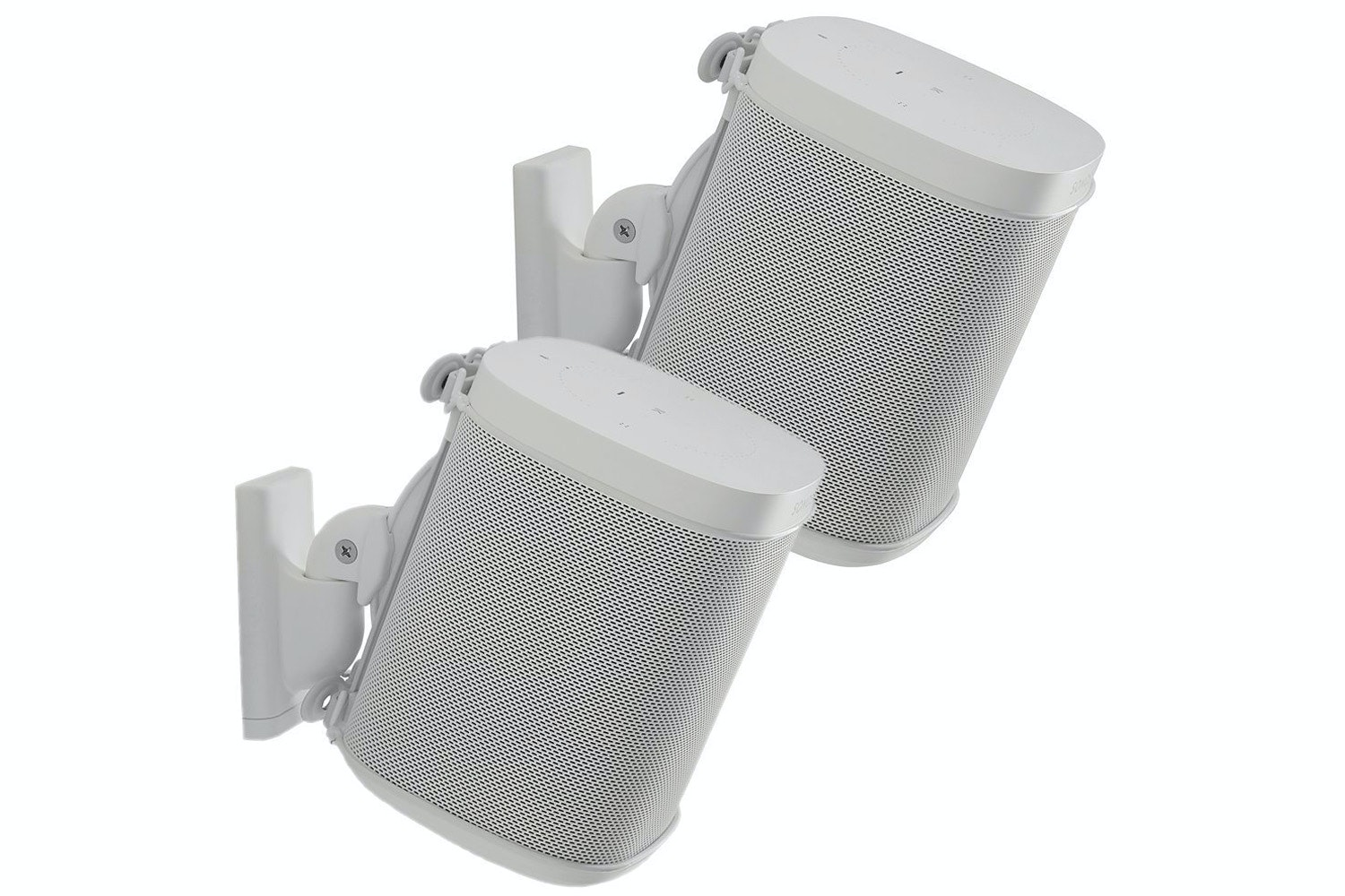 Wireless Speaker Swivel and Tilt Wall Mounts designed for Sonos ONE. Play:1, and Play:3