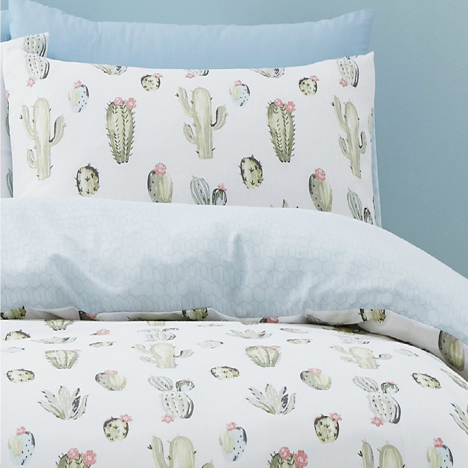 Green Cactus Double Duvet Set