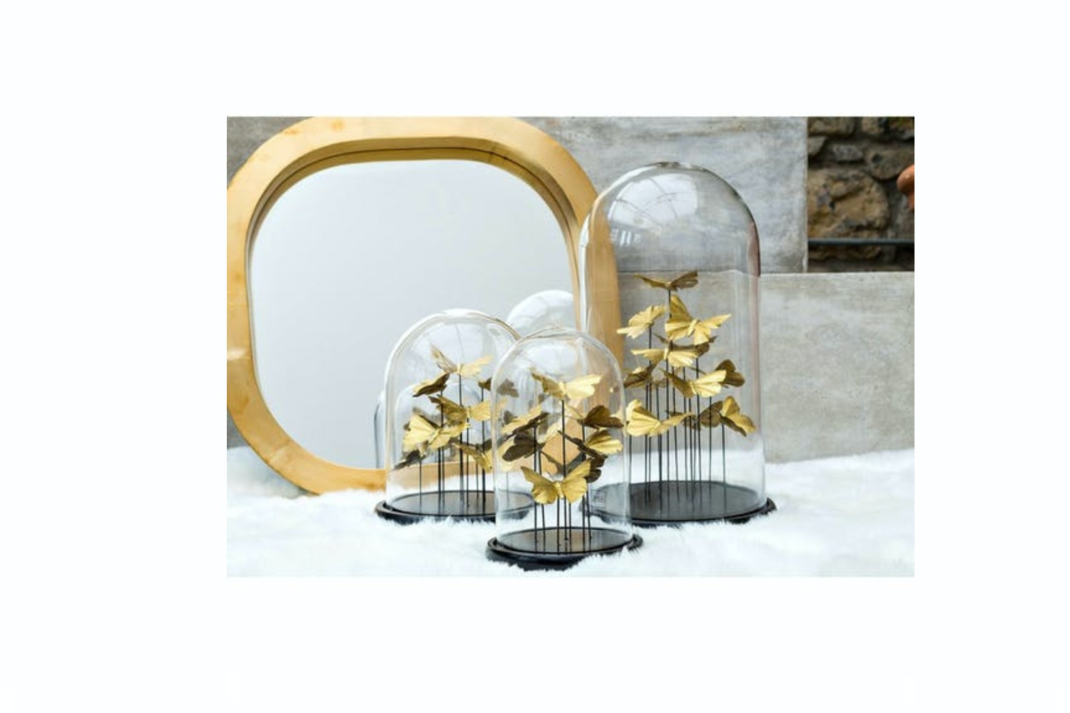Bell Jar Butterfly   Small   Gold