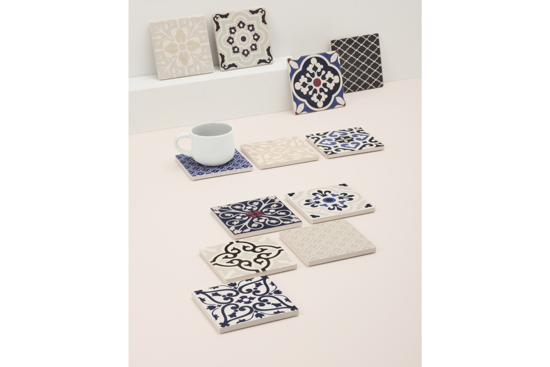 Mw Medina Ceramic Square Tile Coaster Rabat 9cm