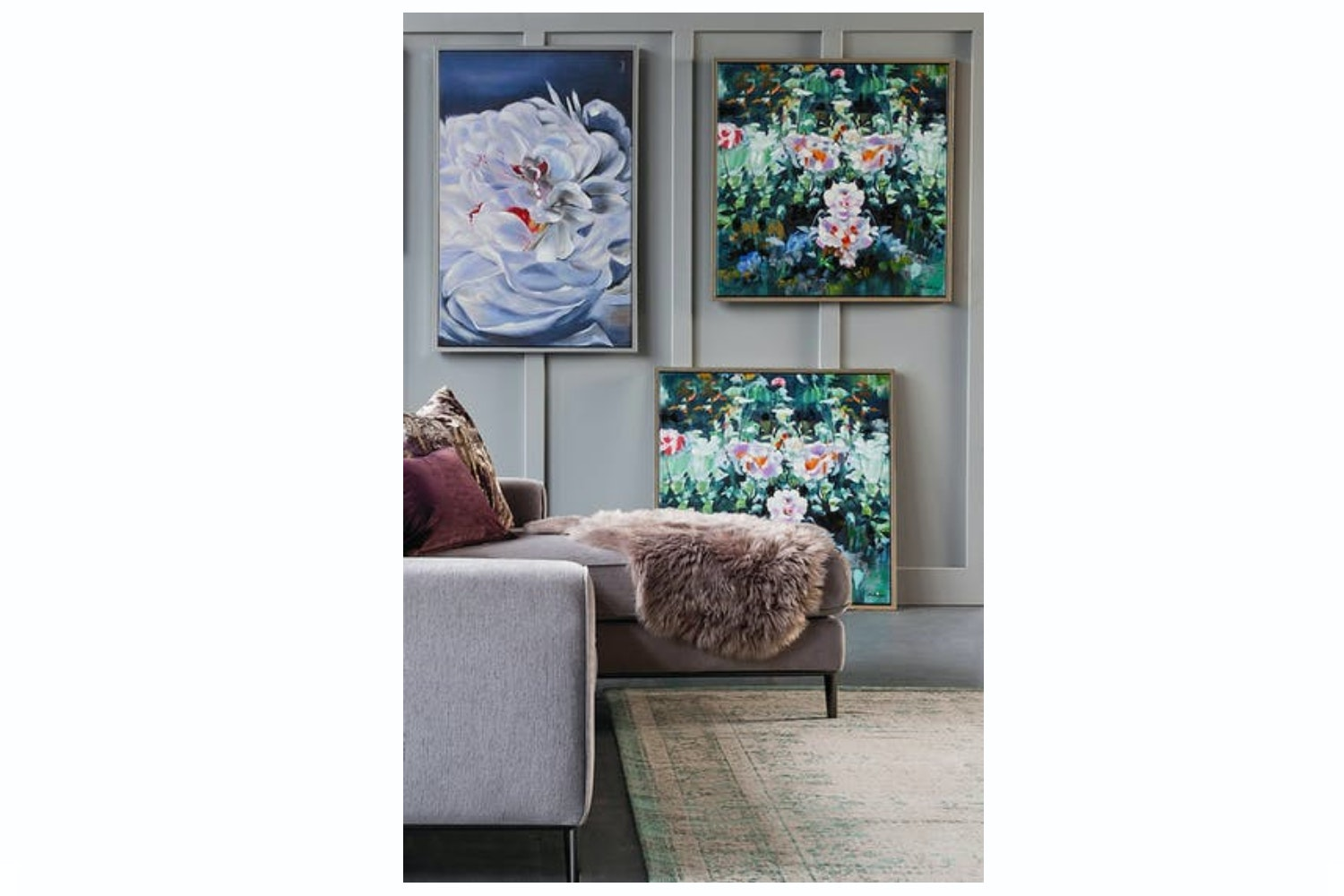 Scatter Box Wall Art |Floral Elegance