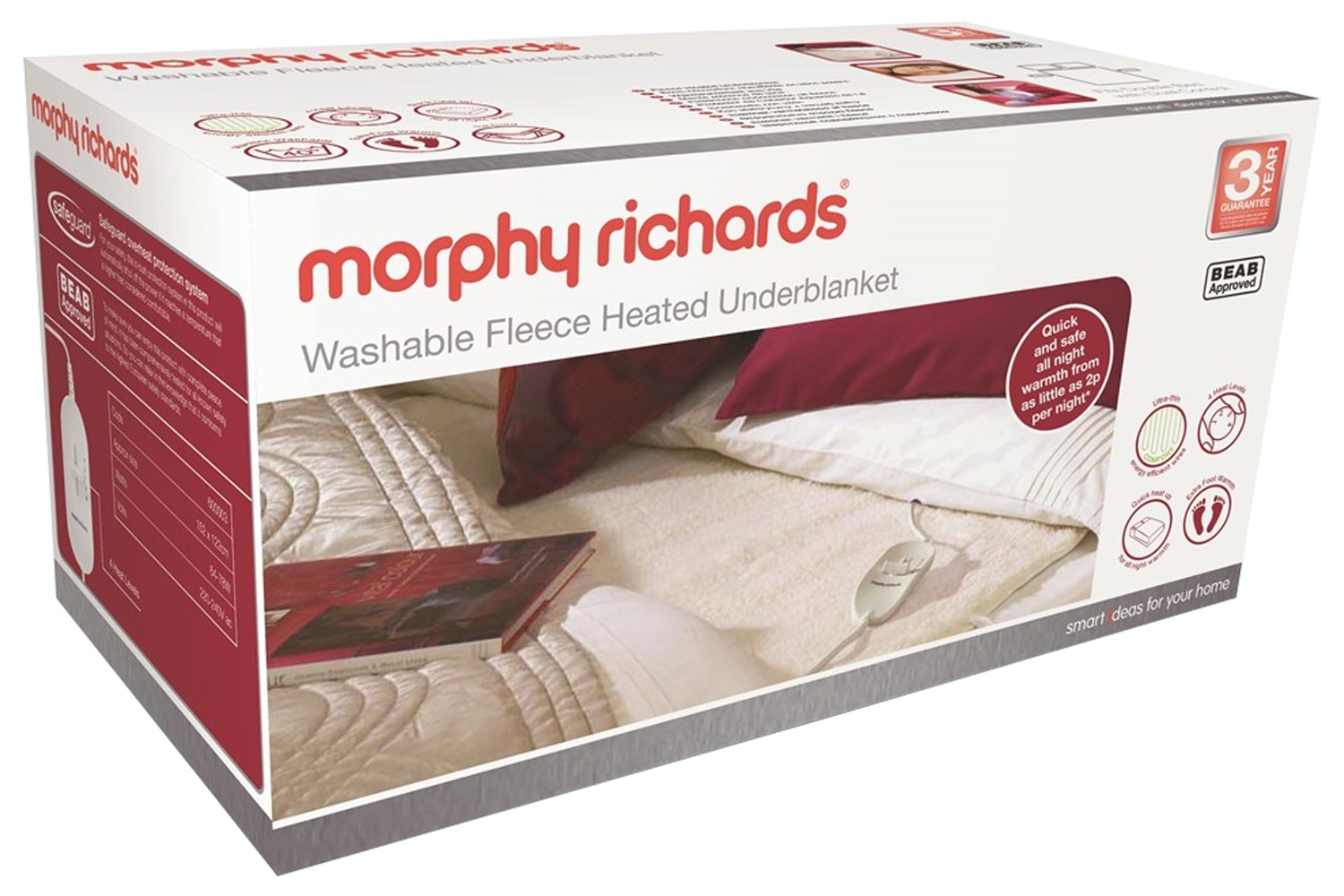 Morphy Richards Double Dual Washable Heated Underblanket | 600013