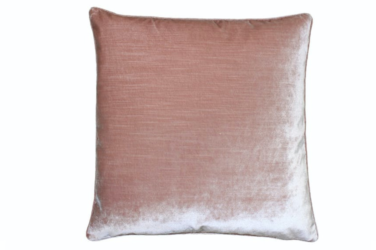 Luxe Velvet Feather Filled Cushion 55x55 | Blush