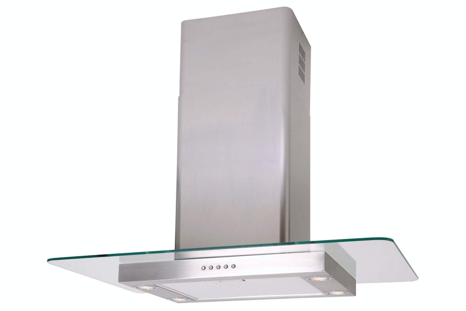 Luxair 70cm Straight Glass Island Cooker Hood | Stainless Steel
